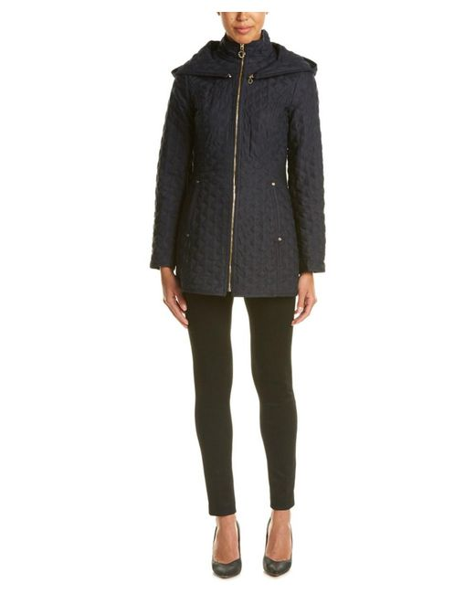 Laundry by Shelli Segal | Blue Quilted Jacket | Lyst