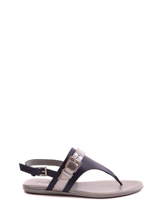 Hogan - Women's Mcbi148169o Blue Leather Sandals - Lyst