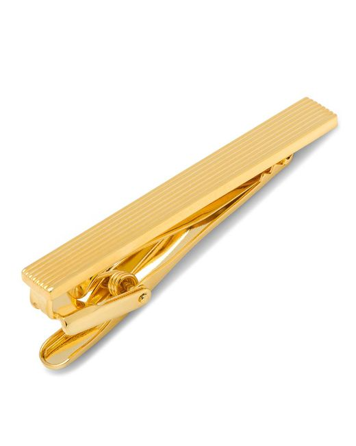 Ox and Bull Trading Co. | Metallic Gold Pinstripe Tie Clip for Men | Lyst