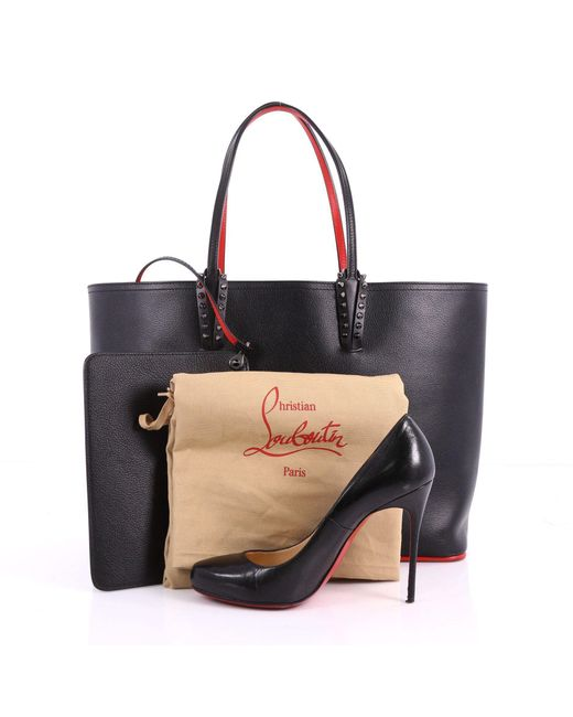 5336b3c05a8 Lyst - Christian Louboutin Pre Owned Cabata East West Tote Leather ...