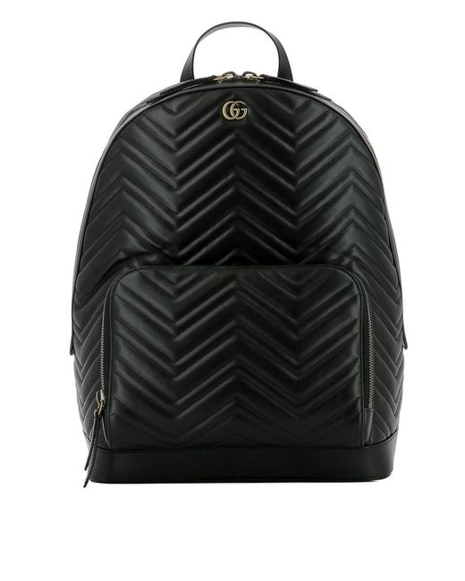 a40bb496d3a7 Lyst - Gucci Women's Black Leather Backpack in Black