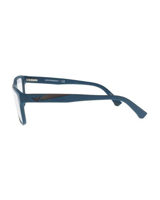 15f256c52f47 ... Emporio Armani - Blue Ea3080 5508 Teal Square Sunglasses - Lyst ...
