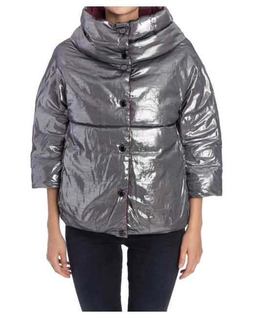 Trussardi | Metallic Women's Silver Polyester Jacket | Lyst