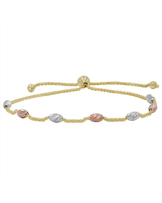 Amanda Rose Collection - Metallic Amanda Rose 14k Tri-tone Gold Beaded Bolo Bracelet (adjustable) - Lyst