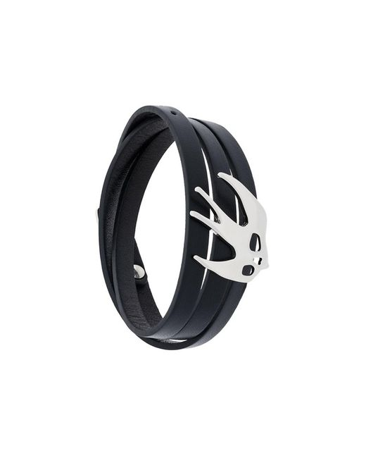 McQ Alexander McQueen - Women's Black Leather Bracelet - Lyst