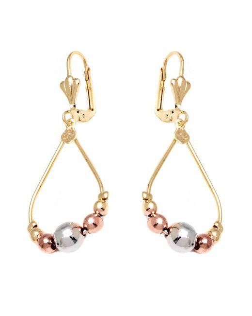 Peermont - Pink Gold Triple-tone Teardrop Earrings - Lyst