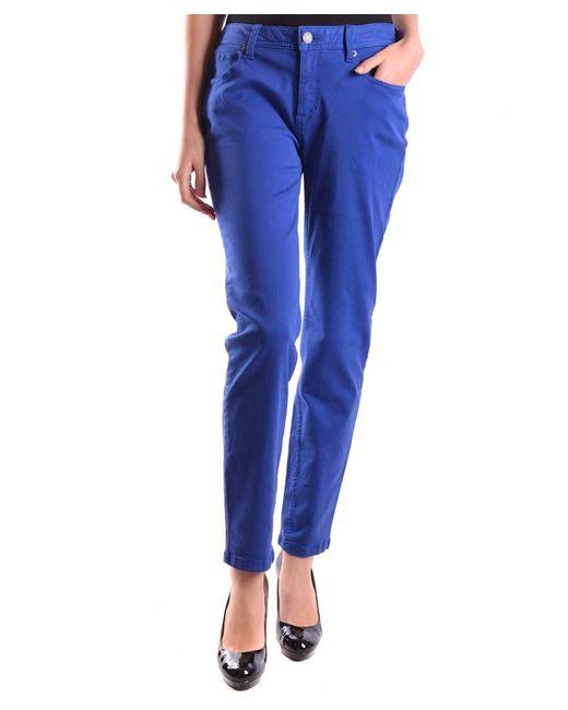 Burberry - Women's Mcbi056090o Blue Cotton Jeans - Lyst