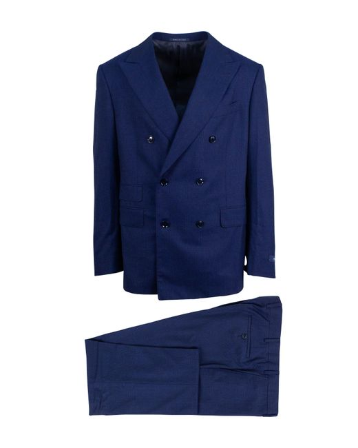 Pal Zileri - Blue Plaid Wool Super 150's Double Breasted Suit for Men - Lyst
