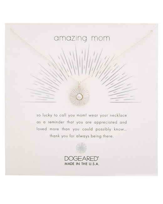 Dogeared - Metallic Mom Silver Necklace - Lyst