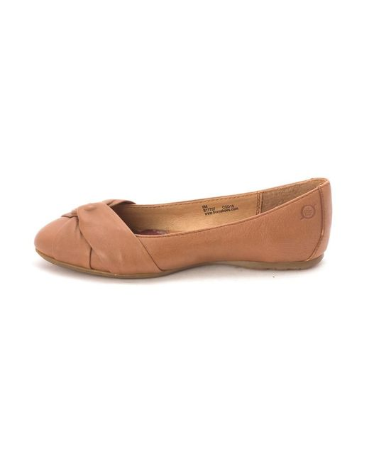 b.ø.c. - Brown Womens Lilly Leather Closed Toe Ballet Flats Ballet Flats - Lyst