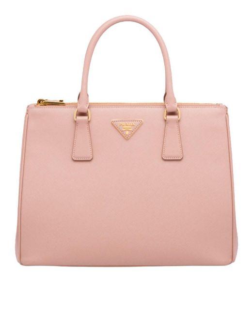 Prada Women S Pink Leather Handbag
