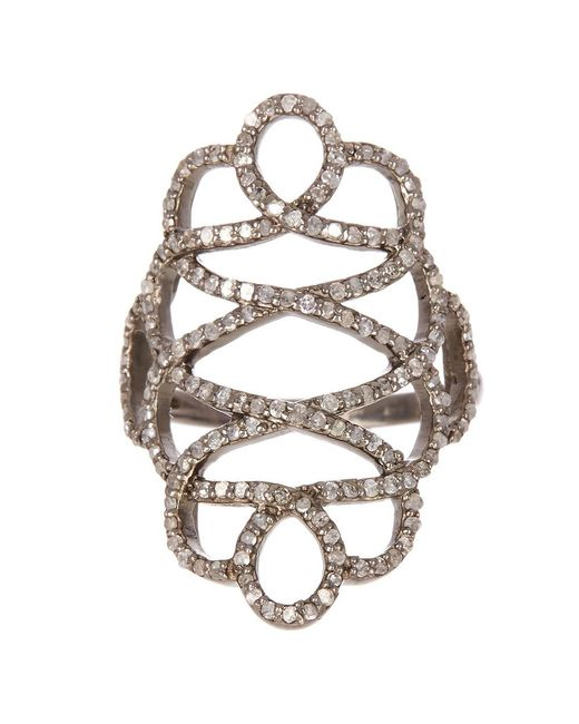 Adornia | Metallic Champagne Diamond Renaissance Ring | Lyst