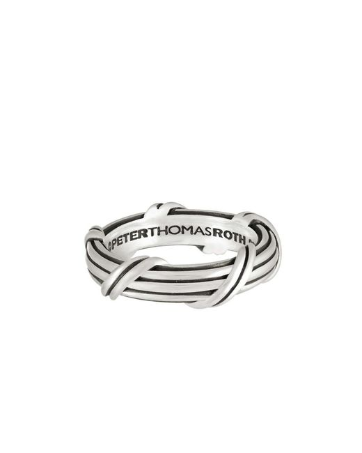 Peter Thomas Roth Fine Jewelry | Metallic Peter Thomas Roth Signature Classic Band Ring In Sterling Silver 8mm Size 4 To 14 for Men | Lyst