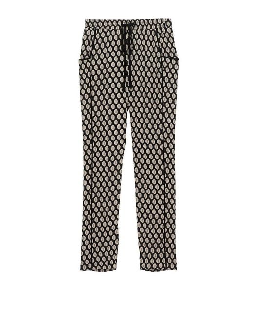 Bobeau - Woven Black Tile Pull-on Trouser - Lyst