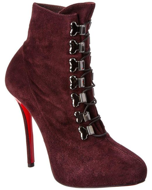 Christian Louboutin - Black Troopista Leather Stiletto Boots - Lyst