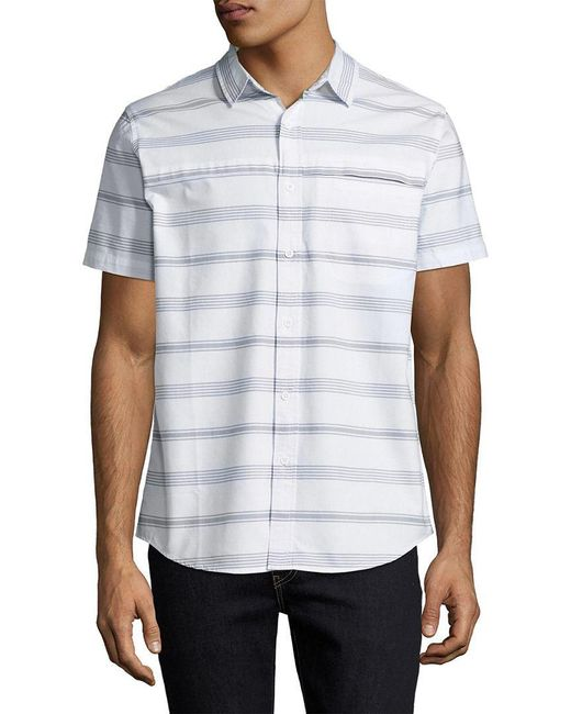 Tavik - White Mens Swimwear Shin Striped Sportshirt, S for Men - Lyst