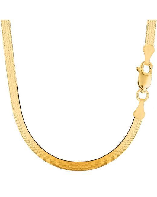 Jewelryaffairs 14k Yellow Gold Imperial Herringbone Chain