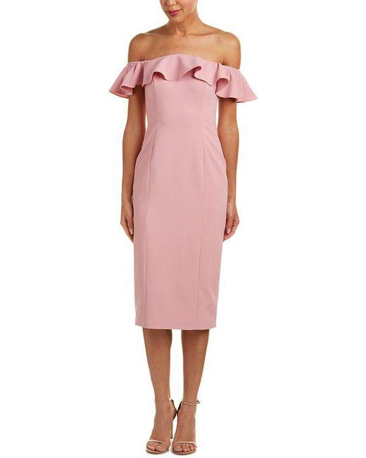 Jay Godfrey - Pink Midi Dress - Lyst