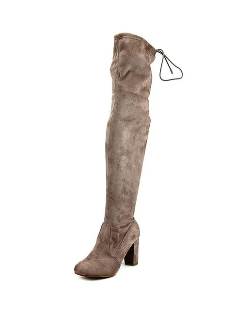 Chinese Laundry - Gray Berlin Round Toe Synthetic Over The Knee Boot - Lyst