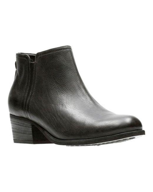 Clarks - Black Maypearl Ramie Ankle Bootie - Lyst