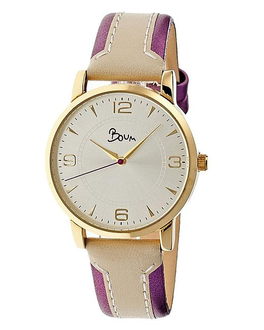 Boum - Metallic Contraire Leather-band Watch - Lyst