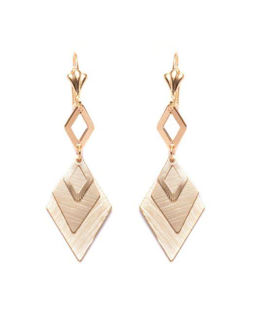 Peermont - Metallic Gold Diamond Drop Earrings - Lyst