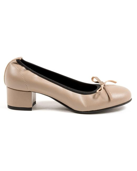 Andrew Charles by Andy Hilfiger - Brown Andrew Charles Womens Ballerina Taupe Nicki - Lyst