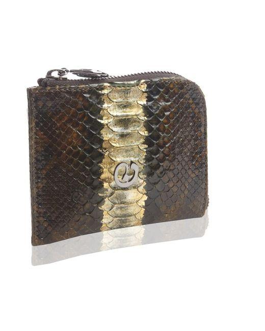 Nada Sawaya | Green Medium Zip Around Python Wallet | Lyst