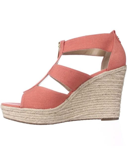 429e543284b Lyst - Michael Michael Kors Damita Wedge in Pink