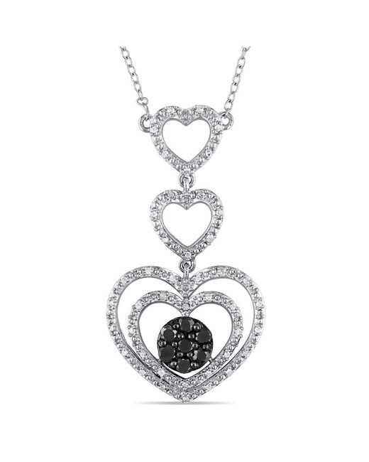 Catherine Malandrino - Metallic Heart Tiered Necklace - Lyst
