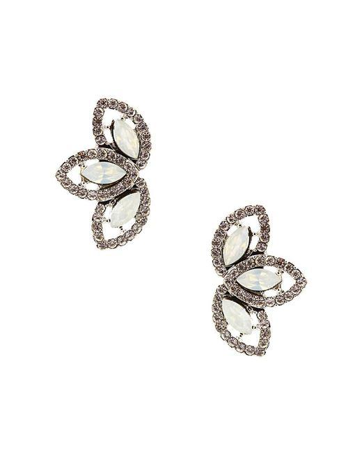 Sparkling Sage - Metallic Plated Crystal Fan Earrings - Lyst