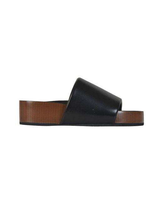 Céline - Céline Women's Black Plastic Sandals - Lyst