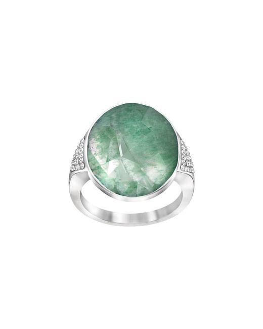 Swarovski | Green Crystal Plated Ring | Lyst