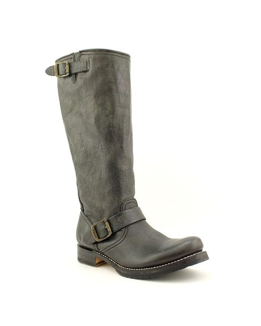 Frye | Veronica Slouch Women Round Toe Leather Black Mid Calf Boot | Lyst