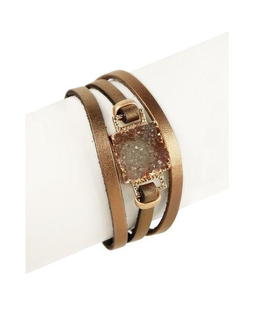 Saachi | Metallic Square Druzy Bracelet | Lyst