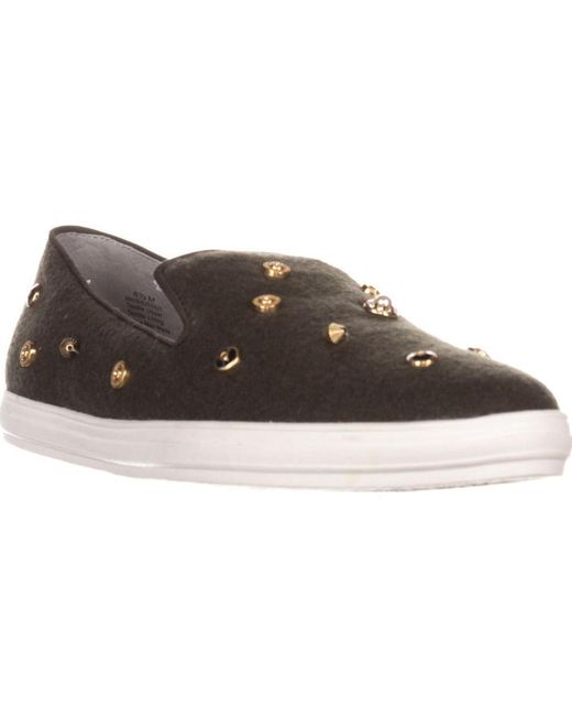 Nine West - Shutout Slip-on Fashion Sneakers, Dark Gray/dark Gray - Lyst