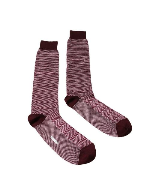 Missoni - Red Gm00cmu3558 0001 Maroon/fuschia Knee Length Socks - Lyst