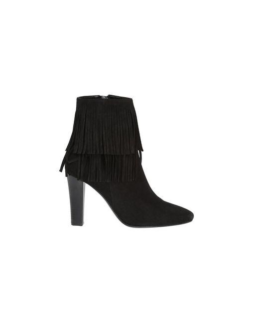 Saint Laurent | Women's 441319dpu001000 Black Suede Ankle Boots | Lyst