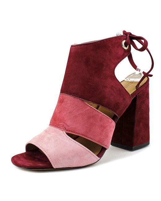 COACH   Red Minetta Women Us 9.5 Multi Color Heels   Lyst