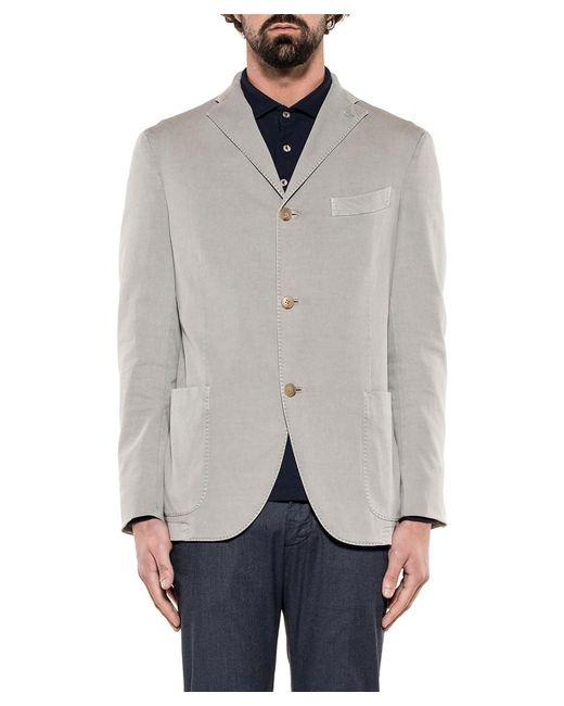 Boglioli - Gray Men's Grey Cotton Blazer for Men - Lyst