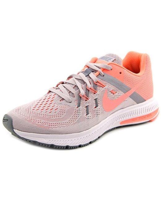Nike | Zoom Winflo 2 Women Round Toe Synthetic Gray Running Shoe | Lyst