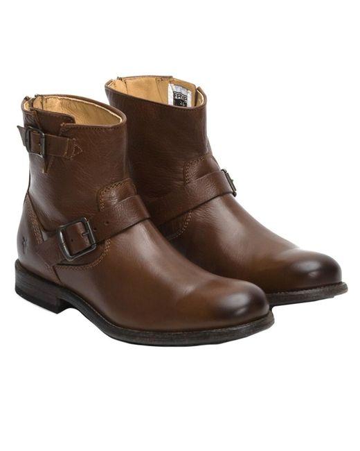 Frye - Brown Men's Tyler Leather Engineer Boot for Men - Lyst