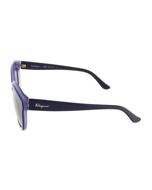 85583801fb6 ... Ferragamo - Blue Sf757s 519 Violet Lilac Butterfly Sunglasses - Lyst ...