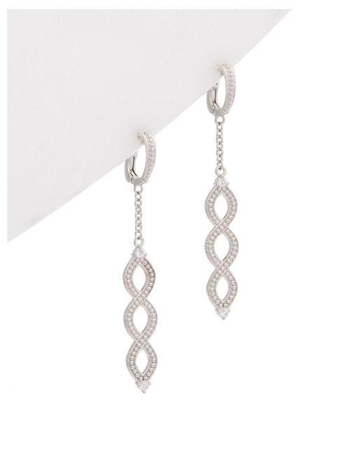 Judith Ripka - Metallic Classic Silver 0.24 Ct. Tw. White Topaz Drop Earrings - Lyst