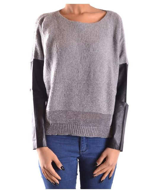 Pinko - Gray Women's Grey Wool Sweater - Lyst
