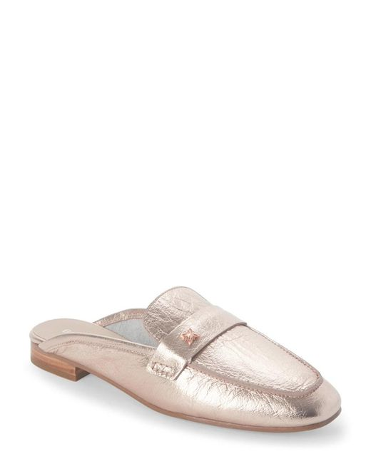 BCBGeneration - Pink Rose Gold Sabrina Loafer Mules - Lyst