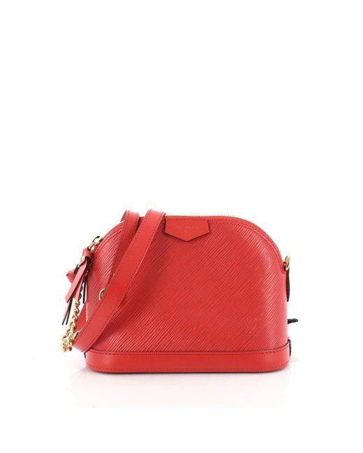 cec539d0169 Louis Vuitton - Red Alma Chain Handbag Epi Leather Mini - Lyst ...
