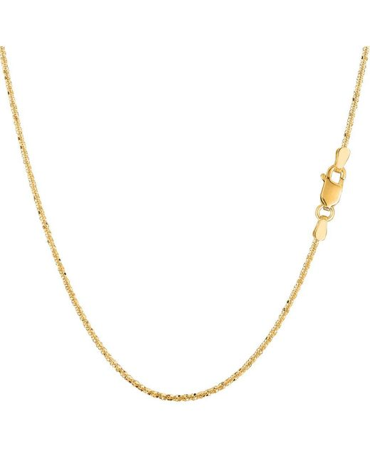 JewelryAffairs - 14k Yellow Gold Sparkle Chain Necklace, 0.9mm, 18 Inch - Lyst