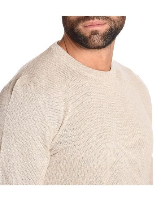 Eleventy Men's Beige Cotton Sweater in Brown for Men | Lyst