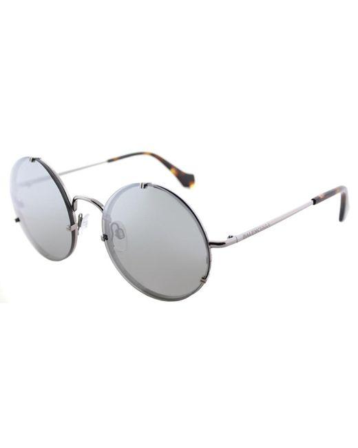 Balenciaga - Multicolor Ba0086 14c Shiny Light Ruthenium Round Sunglasses - Lyst